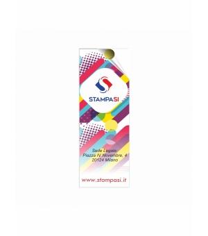 Adesivi formato 7,4x21 cm in carta bianca