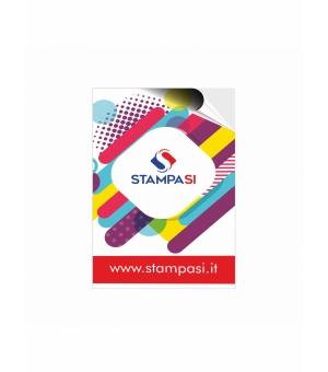 Adesivi formato 7,4x10,5 cm in carta bianca