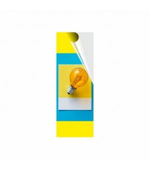 Adesivi formato cm 7,4x21 in PVC per esterno pellicola trasparente