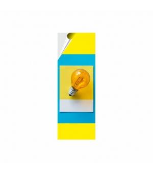 Adesivi formato cm 7,4x21 in PVC per esterno pellicola bianca