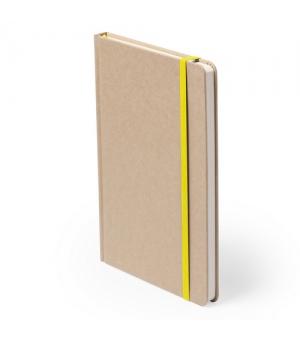 Block notes ecologici cm 14,7x21x1,5 con copertina in cartone riciclato