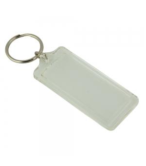 Portachiavi trasparente in plastica porta etichetta o foto