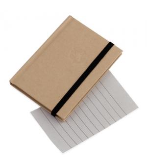 Block notes ecologici cm 7,5x10,2x0,8 con copertina in cartone riciclato