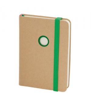 Block notes ecologici cm 7,5x10,6x1,2 con copertina in cartone riciclato