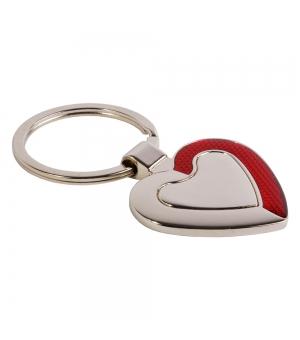 Portachiavi in metallo di forma di cuore