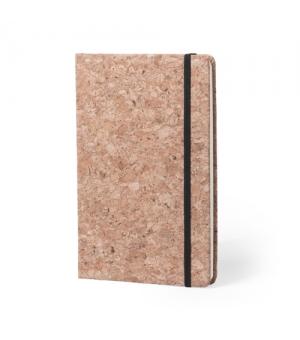 Block notes ecologici in sughero cm 14x21x1,5 con elastico