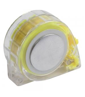 Flessometro da 3 metri in ABS trasparente con tasto blocco del nastro