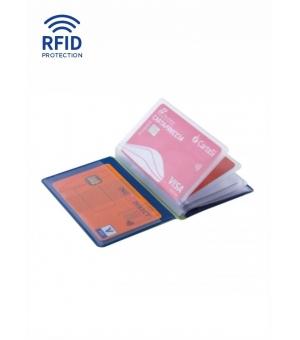 Portacard 10 posti  cm 7,5x10,3 con protezione RFID antitruffa