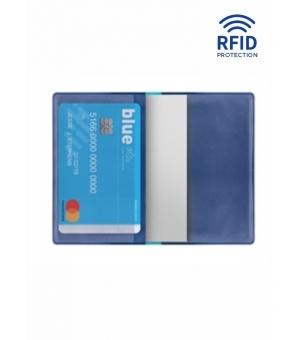 Portacard 2 posti  cm 5,5x9,5 con protezione RFID antitruffa