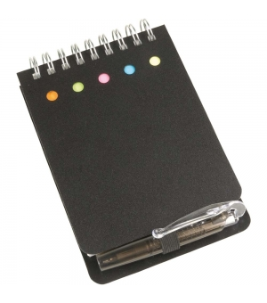 Mini block notes cm 9,8x13 con post-it e penna