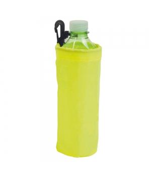 Porta bottiglia da 1/2 litro in poliestere con moschettone in plastica
