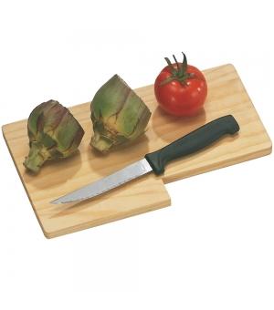 Tagliere in legno con coltello impugnatura in plastica e lama in acciaio