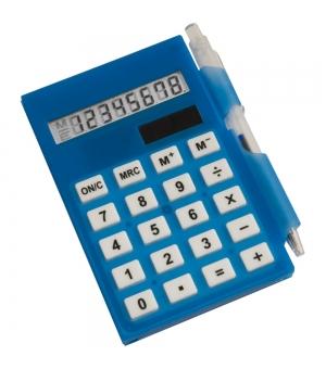 Calcolatrice a 8 cifre con bloc notes e penna