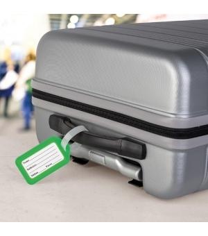Etichetta valigia con targhetta interna di riconoscimento