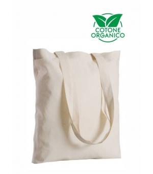 Shopper Borse Marmara in cotone organico manici lunghi - 140 gr - 38x42 cm