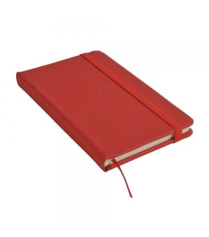 Taccuini colorati in PU gommato cm 9x14 con elastico - 160 pagine fogli a righe
