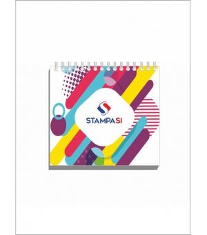 Block notes 9,8x9,8 cm - con spirale lato superiore - con copertina - 50 - fogli