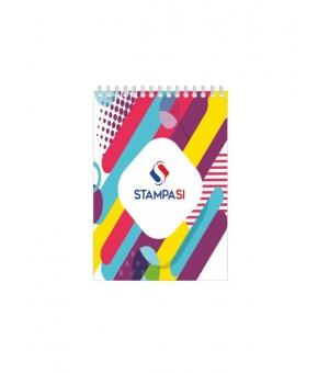 Block notes A5 - con spirale lato corto - con copertina - 25 - fogli