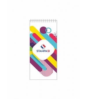 Block notes 9,8x21 cm verticale - con spirale lato corto - con copertina - 25 - fogli