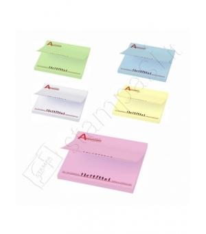 Foglietti adesivi Sticky-Mate cm 7,5x7,5 - 50 fogli carta colorata - stampa full color