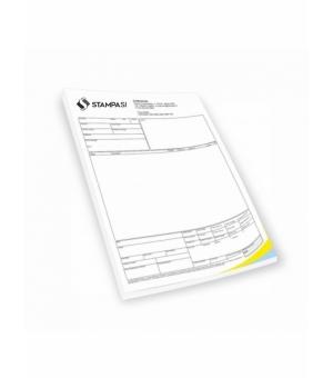 Blocchi in carta chimica formato A5 - 2 copie - stampa 1 colore fronte e retro - 25 fascicoli
