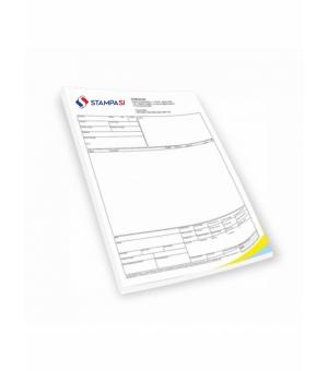 Blocchi in carta chimica formato A5 - 3 copie - stampa 1 colore fronte e retro - 25 fascicoli