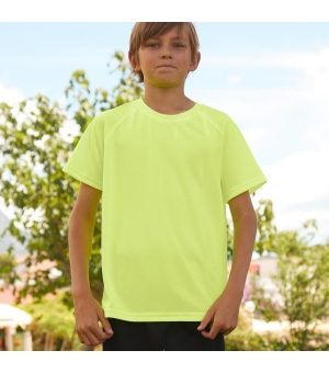 T-shirt bambino Kids Performance Fruit Of The Loom Fluo