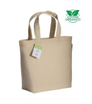 Shopper Borse in cotone organico e manici corti - 120 gr - 32x24x10 cm