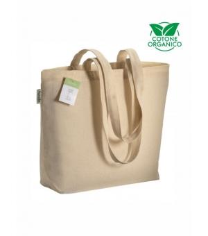 Shopper Borse in cotone organico e manici lunghi - 120 gr - 40x30x10 cm