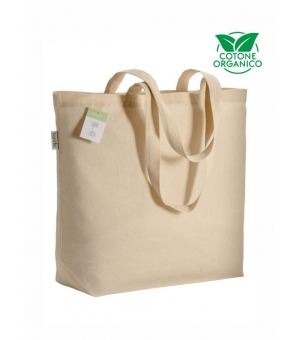 Shopper Borse in cotone organico e manici lunghi - 135 gr - 50x38x15 cm