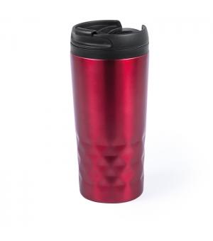 Tazza in acciaio inox da 310 ml con coperchio