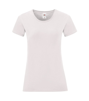 T-shirt Donna Iconic bianca Fruit of the Loom