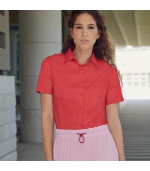 Camicia Donna Poplin Shirt Short Sleeve  Fruit of the Loom