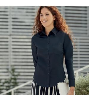 Camicia Donna Poplin Shirt Long Sleeve  Fruit of the Loom
