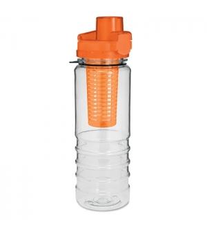 Borraccia con infusore interno per thè/frutta, apertura automatica. In Tritan™ (BPA free). 700ml.