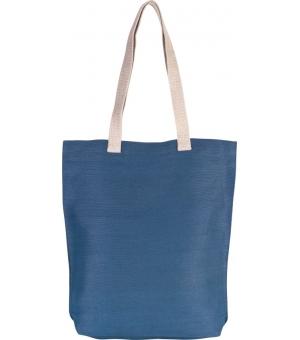Shopper Borse Ki-Mood in juta 300 gr e cotone manici lunghi - 38x42x7 cm