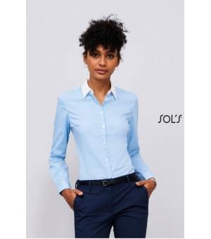 Camicie donna in cotone fil a fil manica lunga Belmont Woman SOL'S 105 gr