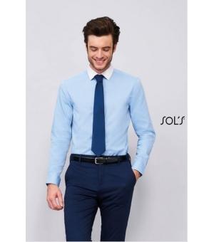 Camicie uomo in cotone fil a fil manica lunga Belmont Men SOL'S 105 gr