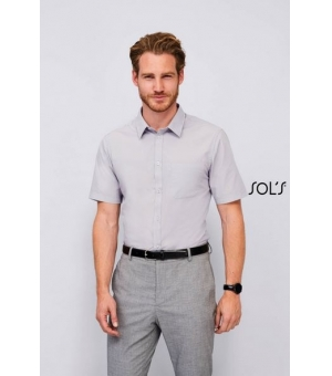 Camicie uomo popeline manica corta Bristol Fit SOL'S 105 gr
