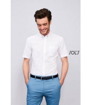 Camicie uomo oxford manica corta Brisbane Fit SOL'S 135 gr