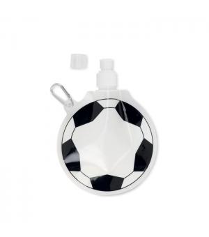 Borraccia morbida a forma di pallone da calcio in BPA Con moschettone 500 ml