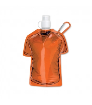 Borraccia morbida a forma di t-shirt in BPA con moschettone 450 ml