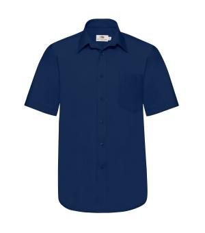 Caimicia Uomo Poplin Shirt Short Sleeve Fruit of the loom
