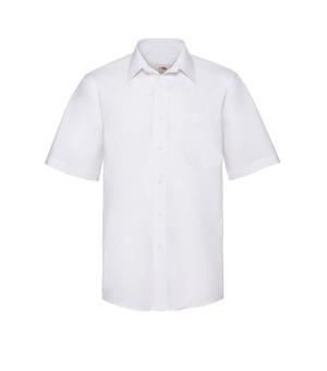 Caimicia Uomo Bianca Poplin Shirt Short Sleeve Fruit of the loom