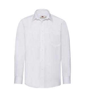 Camicia Uomo Bianca Poplin Shirt Long Sleeve Fruit of the loom