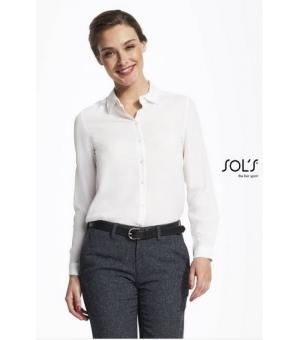 Camicie donna manica lunga Betty SOL'S 90 gr in tessuto crepe