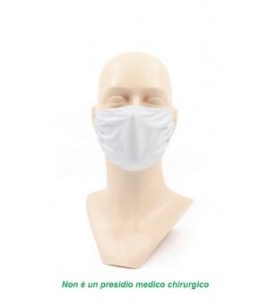 Mascherine protezione viso 100% microfibra 220 gr., lavabili e riutilizzabili