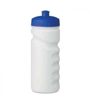 Borraccia da sport con comoda impugnatura. In PE. Capacità: 500 ml. BPA 500ml.