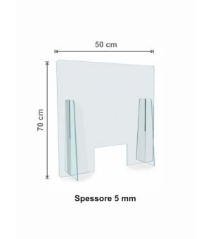 Parafiato - Protezione in Plexiglass spessore 5 mm cm 50x70