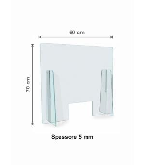Parafiato - Protezione in Plexiglass spessore 5 mm cm 60x70